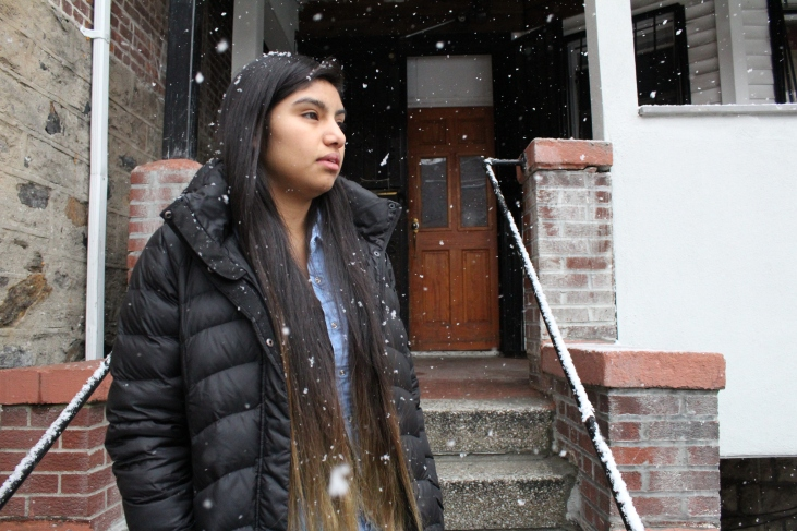 In a snowy day in December, Anayeli, 19, a South Bronx United alumna, contemplates about the challenges she has confronted since her arrival in the United States in 2012.