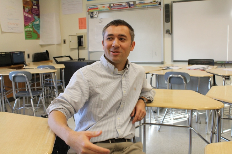 In a classroom of the Bronx school home to South Bronx United's academic programming, Andrew So, the organization's founder, discusses the educational challenges in the borough.